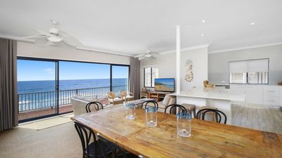 Photo for BEACH BREAK, WAMBERAL - BEACHFRONT, OCEAN VIEWS, FOXTEL