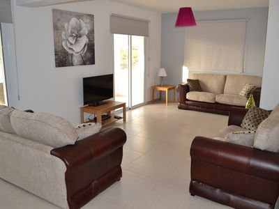 Photo for Beautiful Modern ,Apartment in Larnaca Area, Stunning terrace area & WIFI, Pools