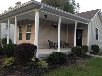 Photo for Cozy Cottage 2 bdrm w/ wrap porch, 1 mile to xway, shops and entertainment