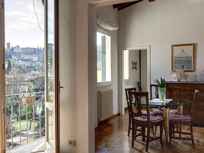 Photo for Charming and bright apartment with splendid views in the center of Florence