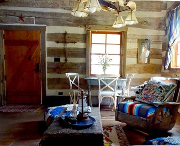 Photo for Authentic Log Cabin with Private Hot Tub!!!!