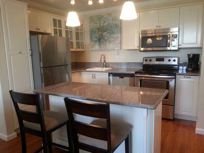 Beautiful new kitchen, fully stocked for your enjoyment.