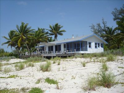 Beach Haven! View of this idyllic dream home from the East beach.