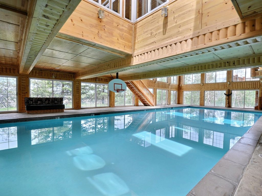 Timber Moose Lodge Largest Private Log Cabin In Usa Big Indoor Pool Sleeps 60 Timber Lakes