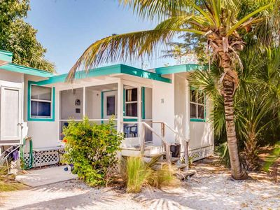 Photo for Secluded Two Bedroom Cottage, Walking Distance to Sanibel Beaches - Tiki Cottage B!