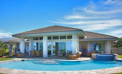 Photo for Mauna Kea Ocean View  - Large Pool Family Vacation Home - Sleeps 10