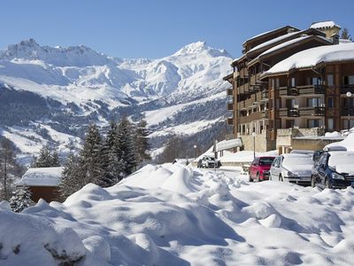 Photo for At the foot of the slopes of Valmorel back skier parking and lift