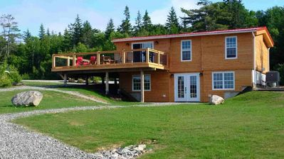 Cottage - View of Wrap Around Deck and Sunshine Basfement