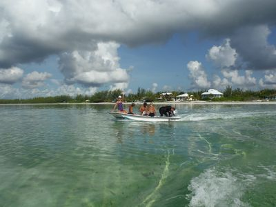 Heading out to the reef for snorkeling & spear fishing - see Lobster next pic.