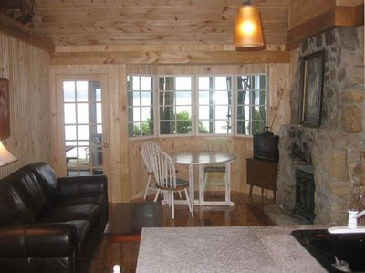 Cozy Living Room - Maine Camp Style