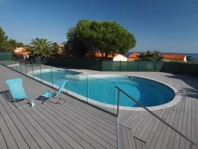 Photo for House in beautiful Collioure with pool and sea views from both balconies