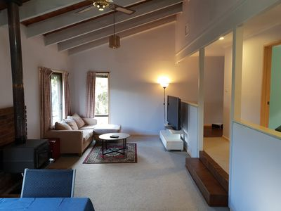 Photo for Relaxed and comfy retreat that is pet friendly.