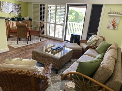 Photo for Just steps from beach Kiahuna planatation condo with A/C