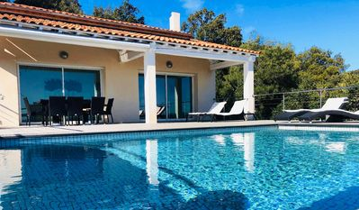 Photo for A modern 180m² 4BR villa with an infinity pool nestled in the hills of Cavalaire-sur-Mer