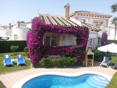 Photo for Luxurious detached Villa with private pool and beautiful gardens