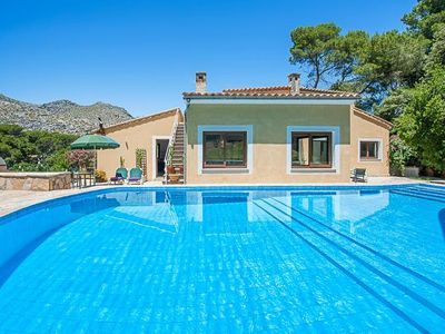 Photo for 3 bedroom Villa, sleeps 7 in Cala San Vicente with Pool, Air Con and WiFi
