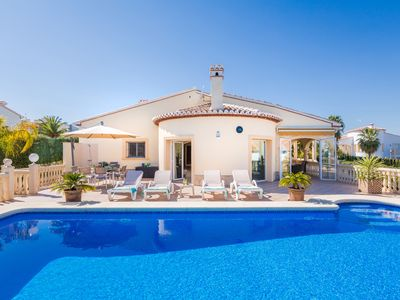 Photo for LAST MINUTE BIG DISCOUNT,Lovely Villa With Sea View ,With HEATED POOL and Wi-fi