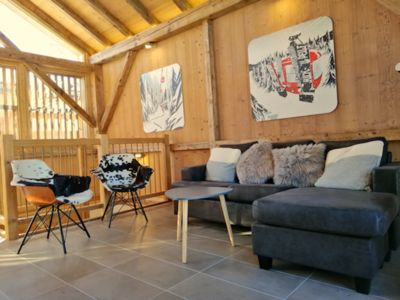 Photo for Beautiful, newly renovated Chalet steps from the telecabine