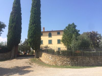 Photo for large apartment in a panoramic villa in the Tuscan hills.
