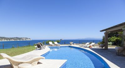 Photo for BLUE SEA exclusive villa, overlooking to bright blue Ionian sea