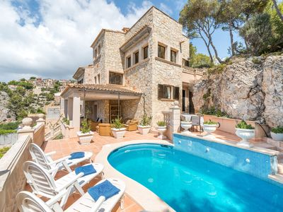Photo for With panoramic views on the sea - Villa Cala Llamp