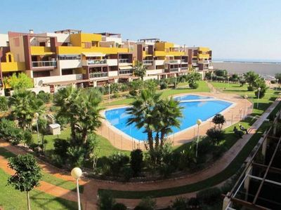 Photo for Modern 2 bedroom apartment in Playa Flamenca with sea and pool views