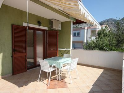 Photo for One bedroom apartment with terrace Starigrad, Paklenica (A-6606-d)