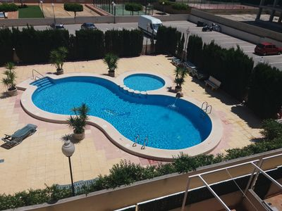 Photo for Nice apartment with pool. 10 minutes. walking from the beach    Quiet zone.