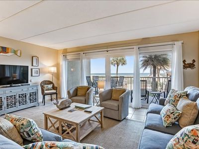 Photo for Newly remodeled oceanfront condo professionally decorated, with easy beach access.  One of a kind fishing pier.