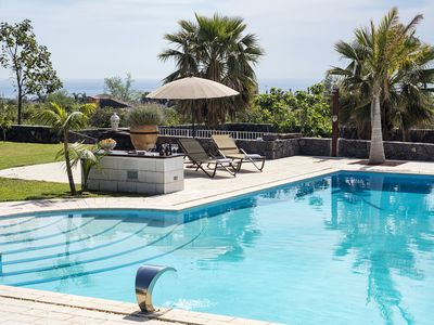 Photo for Villa with PRIVATE POOL and garden, sea view & mountain view