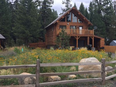 Photo for True Log Cabin - The Happy Place - Almost Heaven! CLOSE TO SKIING AND LAKE!!