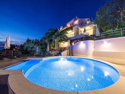 Photo for ctma159/ Modern villa with heated private pool and whirpool, amazing city and sea view, up to 10 persons in Makarska
