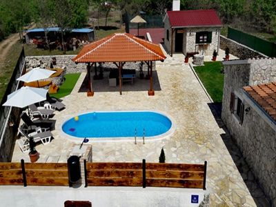 Photo for Lovely holiday home with private pool, jacuzzi, great covered terrace, taverne