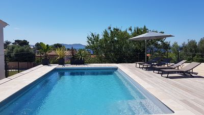 Photo for Carqueiranne, house with pool 500m from the beach and shops.