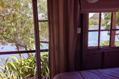 View of the lagoon from your bed