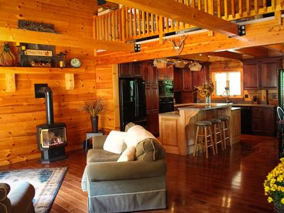 Photo for Stunning Modern Log Cabin In Tioga Mountains-Catered Dinners Available