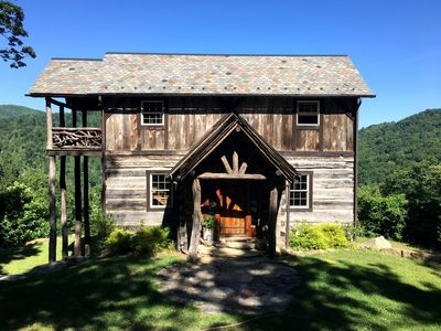 Photo for Mountain home/cabin  with stunning views! Hot tub. 15 miles from ASHEVILLE