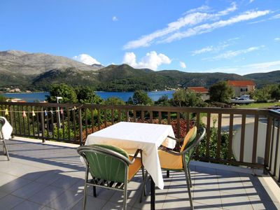 Photo for Studio flat with terrace and sea view Slano, Dubrovnik (AS-2159-a)