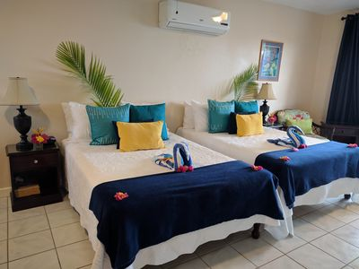 Photo for Azure Agua, Ocean View, Seven Mile Beach, Wifi, 24/7 Security