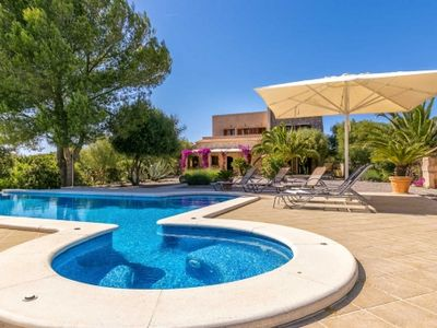 Photo for Natural stone Finca with infinity pool and stunning garden area