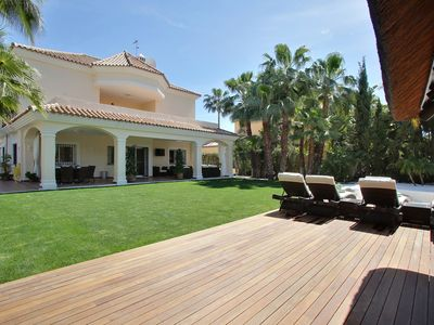 Photo for Modern Detached Villa with beach club style outdoor pool and indoor pool/spa