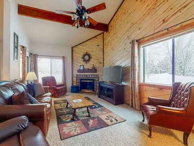 Photo for NEW LISTING! Lofty condo w/ patio & grill - walk to golf, rec center & eateries