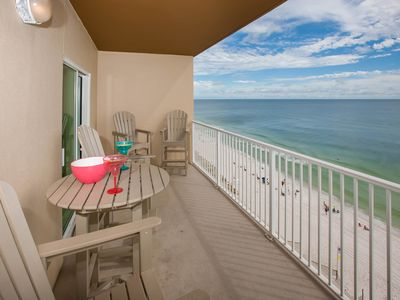 Photo for Awesome Beachfront Condo Balcony overlook the sandy beach Beach And Pool Open