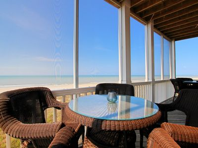 Photo for Gulf-front, large family spaces, screened porches, amazing views!