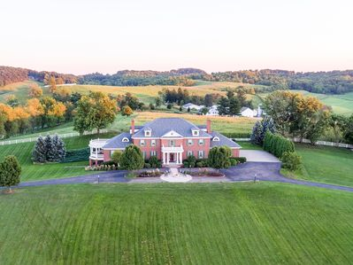 Aerial view of Miller Manor.