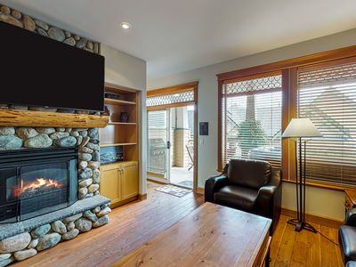 Photo for Ski-in/ski-out chalet with hot tub and garage parking!