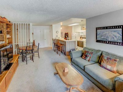 Photo for Condo by shuttle stop w/ WiFi, sauna, tennis court - perfect for families