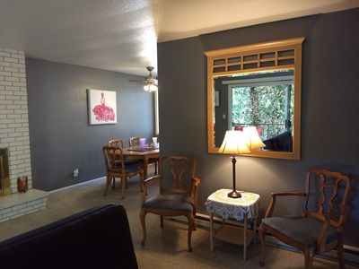 Photo for Large Condo with Creekside View Minutes From Downtown!