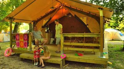 Photo for Camping La Clairière *** - Eco Tent 3 Rooms 4 Persons