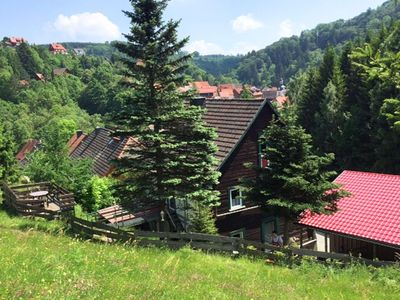 Photo for Beautiful apartment in the romantic Bode Gorge directly on the edge of the forest with fireplace